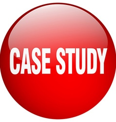 Case study red round gel isolated push button vector