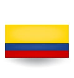 Colombian flag vector