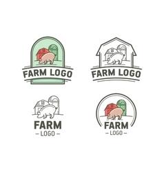 Farm logo set vector image vector image