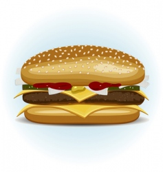 fast sandwich vector image vector image