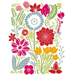 Floral background natura summer design vector