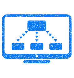 Hierarchy monitoring grunge icon vector