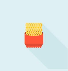 Instant noodle icon flat design vector