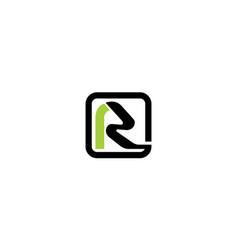 letter r modern logo vector image