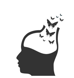 Man avatar profile view male face silhouette vector