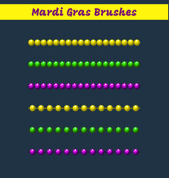 Mardi gras beads pattern brushes add-on vector