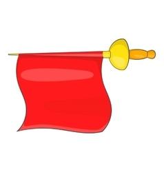 Matador red fabric icon cartoon style vector image