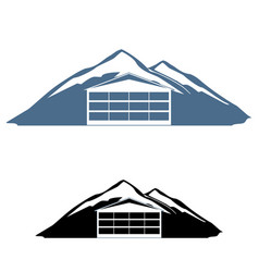 Mountain hotel logo vector