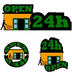 Open 24 hours vector