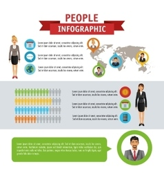 People infographic design vector