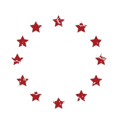 Red grunge European Union logo vector image vector image
