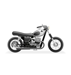Retro motorcycle bike icon isolated realistic 3d vector