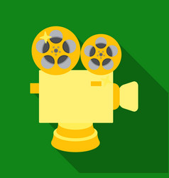 silver camera with filmthe award for the best vector image vector image