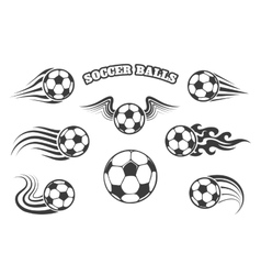 Soccer Balls Set vector image vector image