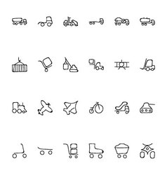 Transport Hand Drawn Doodle Icons 3 vector image vector image
