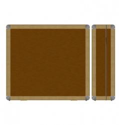 wooden case vector image vector image