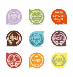 Modern badges collection 2 vector