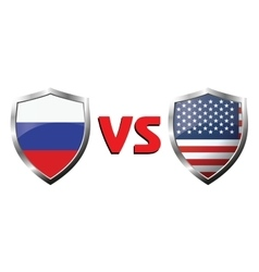 Russia vs usa flag icons theme vector
