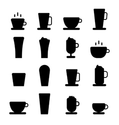 Coffee icons set vector