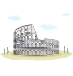 Colosseum - sketch drawing vector image