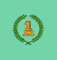 first place icon golden number one symbol in vector image