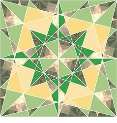 seamless set geometric pattern with stars vector image