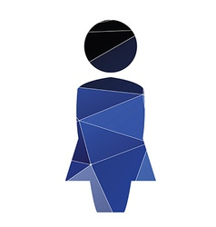 Female profile icon abstract triangle vector