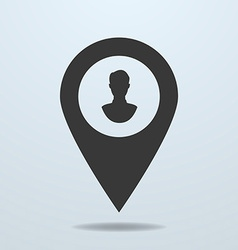 Map pointer with a male symbol vector