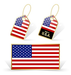 American flag and tags vector
