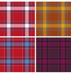 Set of seamless tartan patterns vector