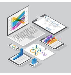 isometric infographics design elements vector image