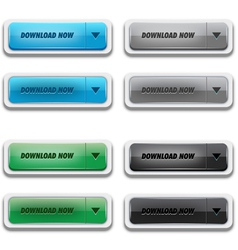 Download button set vector