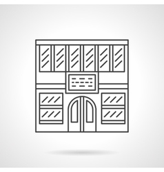 Library facade flat line icon vector