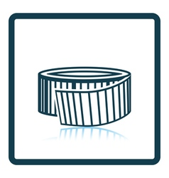 Icon of measure tape vector