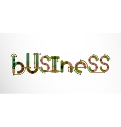 Business word lettering vector