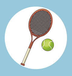 Ball and racket tennis vector