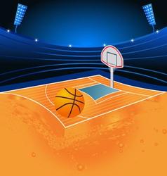 basketball sport stadium vector image vector image