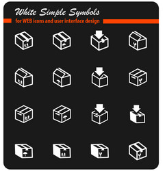 Box icon set vector