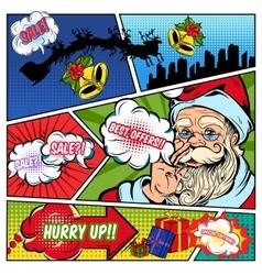 Christmas sales comics page vector