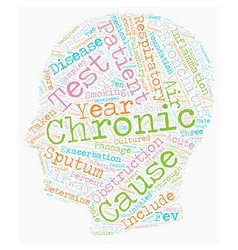 Chronic bronchitis text background wordcloud vector