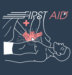Concept of the first aid vector
