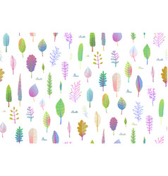 Delicate nature leaves seamless pattern background vector