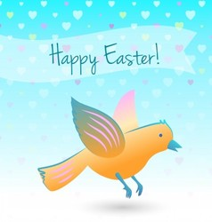 Easter bird vector image