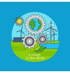 Ecology in the world concept vector