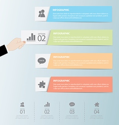 Flat Infographics Template and Web Elements vector image vector image