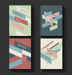 Geometric business templates for brochure flyer vector