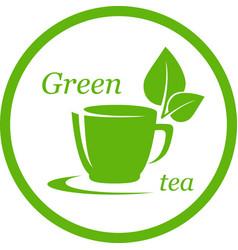 green tea icon vector image