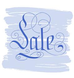 Hand lettering sale on grunge brush background vector