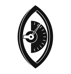 Hand power meter icon simple style vector
