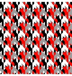 Hounds-tooth patterns in classic colors vector